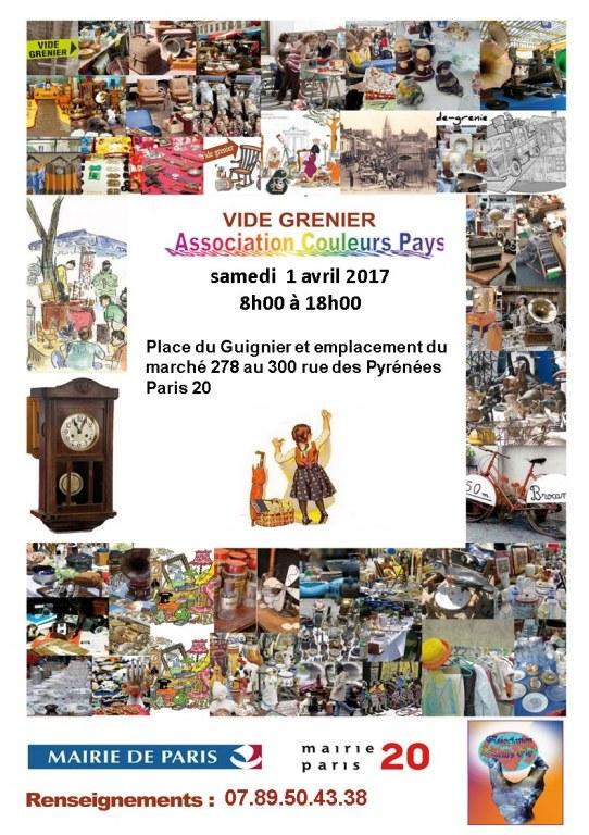 Vide grenier couleurs pays place du guignier paris 20 - Vide grenier paris 20 ...