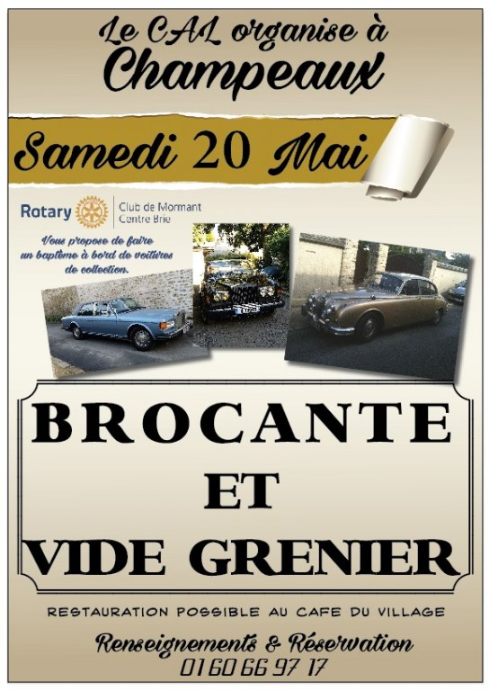 brocante vide greniers champeaux 77 le 20 05 2017. Black Bedroom Furniture Sets. Home Design Ideas