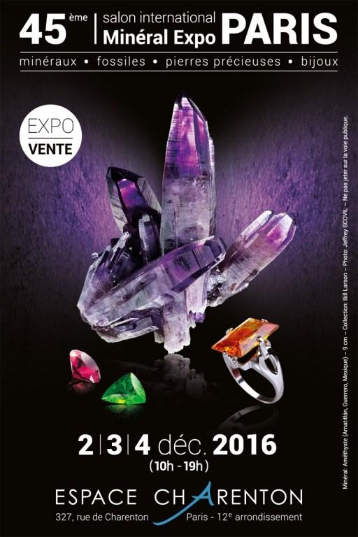 Salon min ral expo paris le salon des pierres pr cieuses for Exposition jardin paris 2016