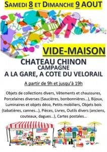 VIDE MAISON CHATEAU-CHINON CAMPAGNE LA GARE