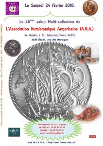 LE 26ème Salon Multi-collection de L'Association Numismatique Armoricaine (A.N.A.)