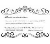 SIA-service international antiquaire Collections Paris 9ème ardt - 75009