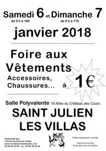 Foire aux Vêtements et accessoires à 1 euro