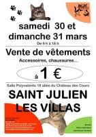 Vente de vêtements, accessoires, chaussures à 1 euro