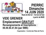 VIDE GRENIER - 44290 PIERRIC - DIMANCHE 14 JUIN 2020