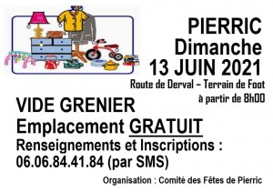 Vide-Grenier - 44290 PIERRIC (44290) - Dimanche 13 Juin 2021