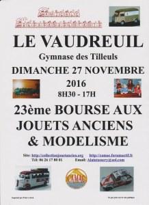 27 : Le Vaudreuil - Bourse aux jouets anciens et modélisme