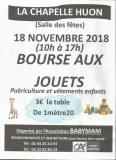 72 : La Chapelle-Huon - Bourse aux jouets, puériculture et vêtements enfants