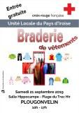 29 : Plougonvelin - Croix-Rouge française - braderie de vêtements
