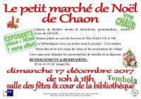 Le petit marché de Noël de Chaon
