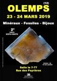2e SALON MINERAUX FOSSILES BIJOUX de OLEMPS - AVEYRON - OCCITANIE - FRANCE