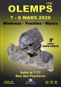 3e SALON MINERAUX FOSSILES BIJOUX de OLEMPS - AVEYRON - OCCITANIE - FRANCE