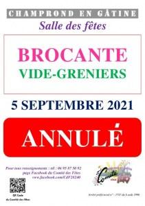 Brocante Vide-Grenier de Champrond-en-Gâtine ANNULE
