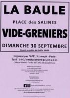 VIDE GRENIERS LA BAULE place des Salines