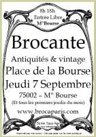 Antiquités-Brocante-Vintage de la Place de la Bourse