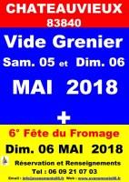 Vide-grenier, brocante, Foire à tout + 6° Fête du fromage Dimanche 06 Mai