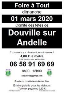 Foire a tout 01/03/2020 comité des fetes