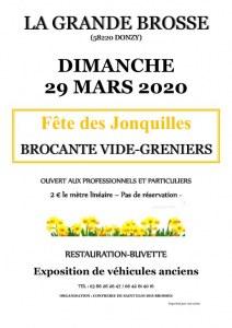BROCANTE VIDE-GRENIERS DE LA FETE DES JONQUILLES