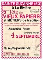 53 : Fête des Vieux Papiers et Métiers de Tradition - Sainte Suzanne