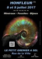 1er SALON MINERAUX FOSSILES BIJOUX de HONFLEUR - CALVADOS - NORMANDIE - FRANCE