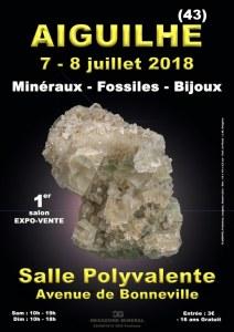 1er SALON MINERAUX FOSSILES BIJOUX d'AIGUILHE (43) - AUVERGNE-RHONE-ALPES - FRANCE