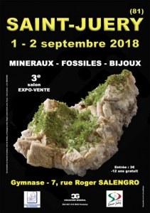 3e SALON MINERAUX FOSSILES BIJOUX de SAINT-JUERY - TARN - OCCITANIE - FRANCE