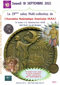 29ème SALON MULTI-COLLECTION DE L'ANA (Association Numismatique Armoriaine)