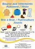 Bourse aux vêtements automne hiver, jouets, puériculture, bric à brac