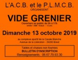 Vide grenier ACB PLMCB