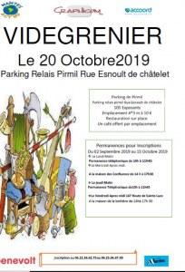 Vide grenier de l'Association Nantes Act hu octobre 2019