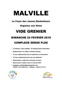 VIDE GRENIER LE DIMANCHE 24 FERVRIER 2019