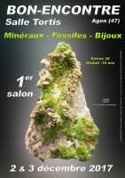 1er SALON MINERAUX FOSSILES BIJOUX de BON-ENCONTRE (47) - NOUVELLE AQUITAINE - FRANCE