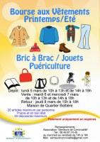 Bourse aux vêtements printemps/été, bric à brac, jouets, etc