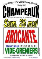 BROCANTE & VIDE-GRENIERS à CHAMPEAUX (77), le 26/05/2018