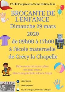 Brocante des enfants – Bourse aux Jouets et Puériculture à Crécy-la-Chapelle
