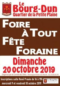 FOIRE A TOUT - FETE FORAINE AU BOURG DUN