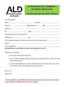 Vide grenier Amicale Laïque de Doulon
