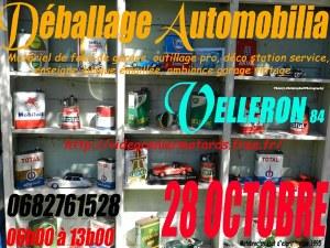 Vide Garage Auto-Moto 28 octobre à Velleron