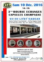 93 :3ème BOURSE D'ECHANGES DE CAPSULES DE CHAMPAGNE - LIVRY GARGAN