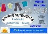 Bourse aux vétements enfants-ados auromne -hiver et matériel de puériculture