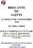 Brocante de Saints le Dimanche 9 Septembre 2018