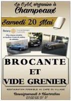 BROCANTE & VIDE-GRENIERS à CHAMPEAUX (77), le 20/05/2017