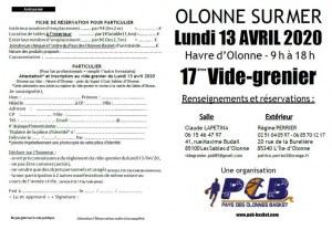 17ème vide-grenier du Pays des Olonnes Basket