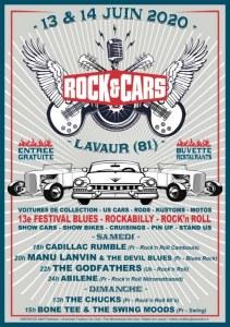Festival ROCK'&'CARS à Lavaur (81) les 13 et 14 juin 2020