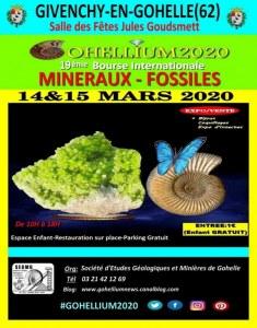 GOHELLIUM2020,19ème Bourse Minéraux-Fossiles