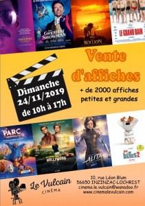 Vente d'affiches de cinéma