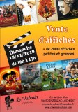 Vente d'affiches de cinema
