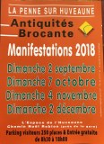 ANTIQUITE- BROCANTE de LA PENNE- SUR -HUVEAUNE