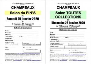 Salon du Pin's le 25/01/2020 à CHAMPEAUX (77)