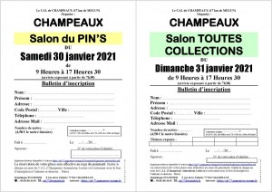 Salon du Pin's le 30/01/2021 à CHAMPEAUX (77)